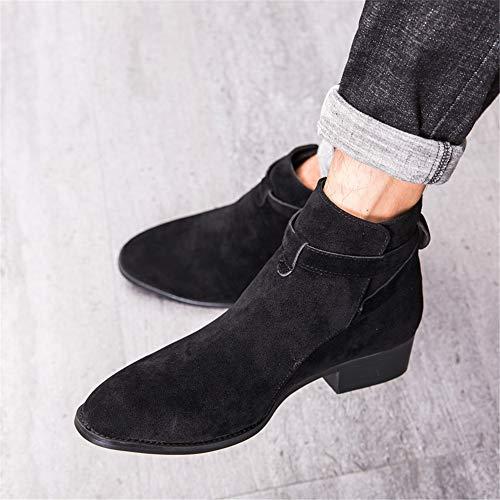 Hombres Súper De Ocasionales color Negro boots Ligeras Negocios Yajie Botines Botas Tamaño Los Eu Negro Superiores Cómodas 44 AXzqAEPw