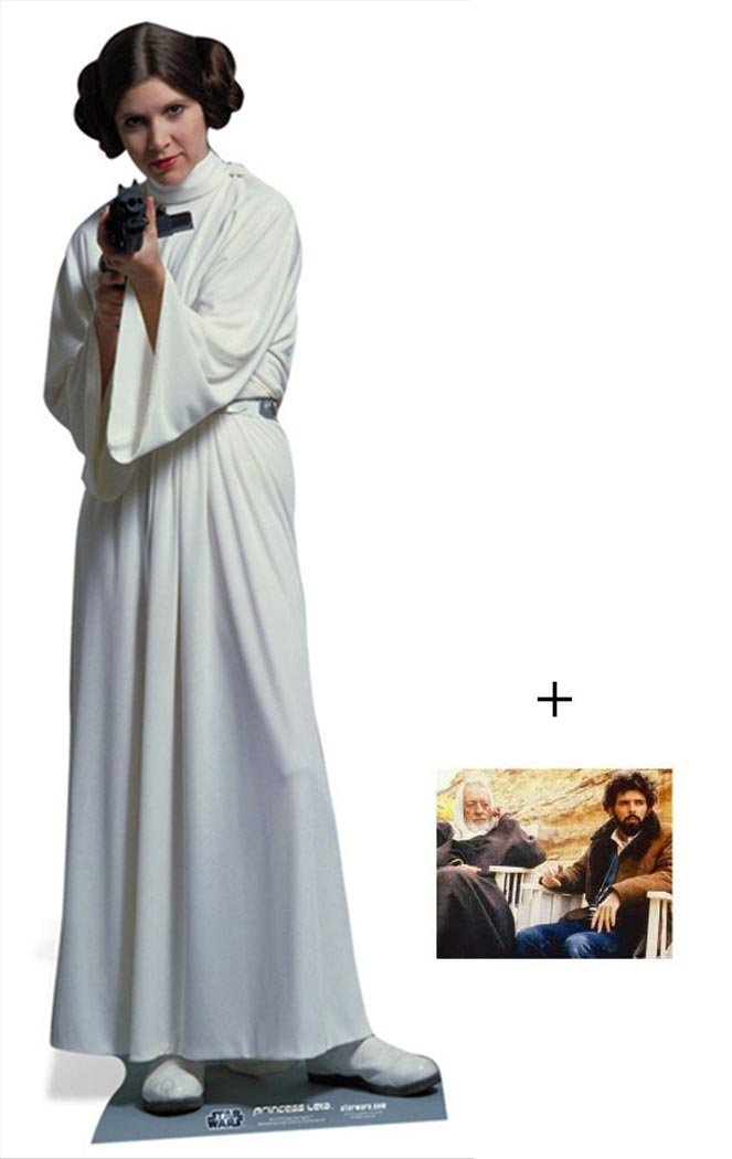 Fan Pack - Princess Leia Organa de Star Wars Lifesize Grand Silhouette En Carton Standee / Stand-Up - Avec Star Photo (Dimensions 25x20 Cm) BundleZ-4-FanZ Fan Packs