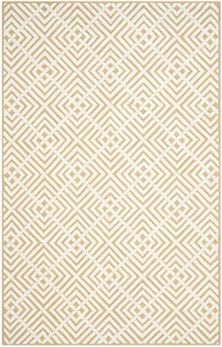 Safavieh Newport Collection NPT436C Hand-Hooked Beige and White Cotton Area Rug 7 9 x 9 9