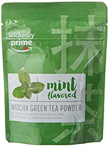Wickedly Prime Matcha Green Tea Powder, Mint Flavored, Culinary Grade, 2 Ounce