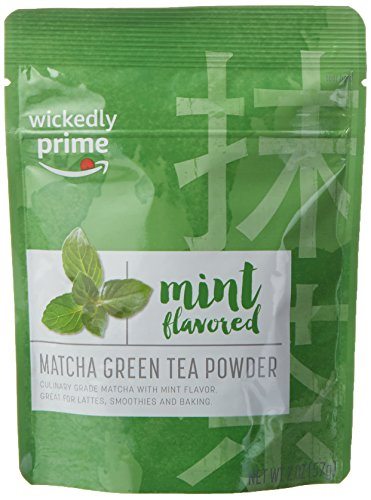 Wickedly Prime Matcha Green Tea, Mint Flavored, Culinary Grade Powder, 2 Ounce