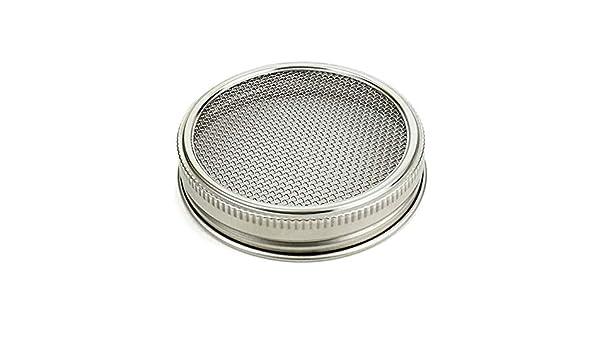 4 Piezas Show QLING Juego de 4 tarros de Acero Inoxidable con Tapa para germinar y Hacer Semillas org/ánicas de Brote en casa o en la Cocina
