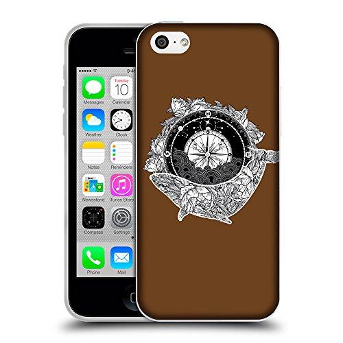 GoGoMobile Coque de Protection TPU Silicone Case pour // Q09130633 Boussole antique 2 Sépia // Apple iPhone 5C