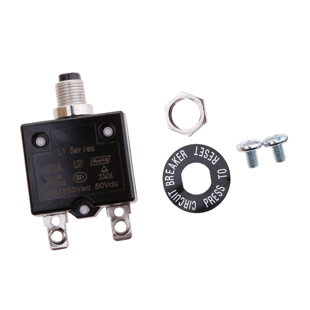 40A perfk 20A//25A//30A//35A Sicherungshalter Auto Leistungsschalter Automatiksicherungshalter