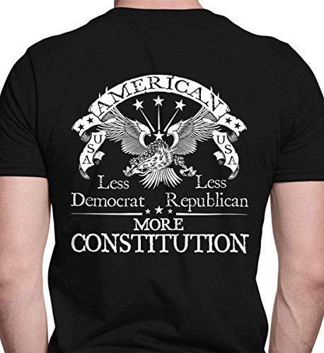 Less Democrat - Less Republican. More Constit Black/LRG Port & Co. T-Shirt. from Sons Of Liberty
