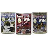 Taste of the Wild Canned Dog Food Variety Bundle - 12 Pack (3 Flavors, 13.2 oz Cans)