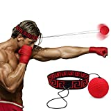 Boxing Reflex Fight Ball by Abra Athletics: 2018 Model, Great for Improving Reactions, Punching, Hand Speed and Agility, Headband Fits All, Perfect for Boxing, Training and Fitness, Boxing Equipment