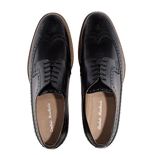 zapato In 40 Negro Spain Pequeñas 47 50 Machado Estilo Cuero tallas Tallas En Oxford Grandes Y De Made La Andres 6109 37 wEqC7CH