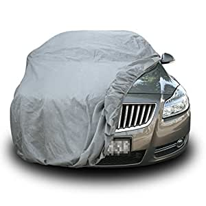 Copap Car Covers Sedan Full Cover Non-woven Fabric Universal Size XL Cars up to 190 inches 4 Layers UV Proof