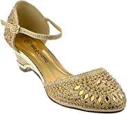 Girls Evening Sandal Rhinestone Dress-Shoes ysck-32