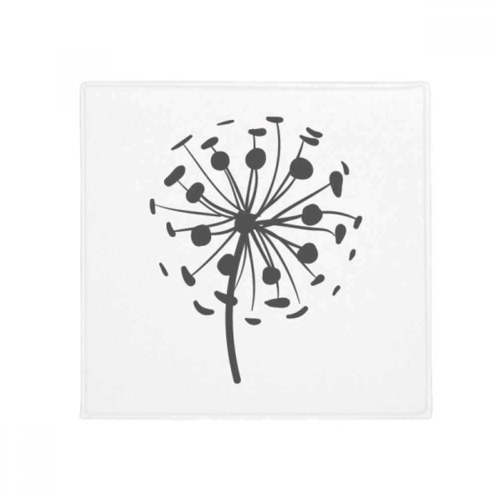 DIYthinker Flowers Dandelion Silhouette Plants Anti-Slip Floor Pet Mat Square Home Kitchen Door 80Cm Gift