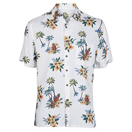 Campia Men's Rayon Print Shirt Big and Tall (Tropical Island Landscape Natural, 2LT)