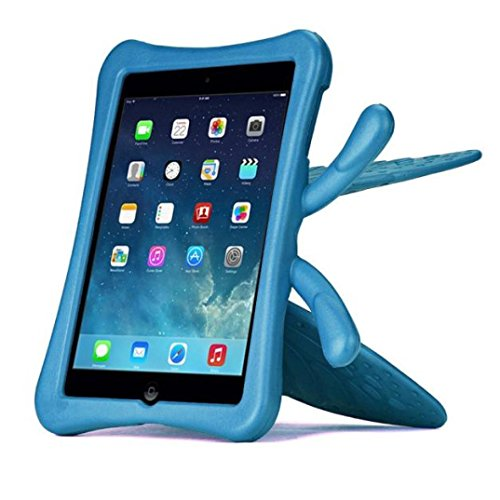 Price comparison product image TOOPOOT 3D Cute Butterfly Kids Shockproof Handle EVA Foam Stand Case For iPad mini 1 2 3 (Blue)