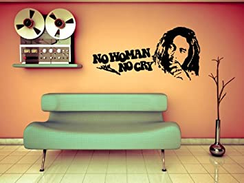 Autocollant - Stickers muraux sticker mural Bob Marley No Woman No ...