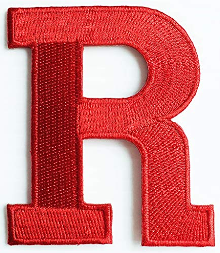 2x3 Inch Red Letter R Alphabet Character A-Z School ABC Song R English Letter Patch Cartoon Children Kids Embroidered Applique Craft Handmade Baby Kid Girl Women Clothes DIY Costume Accessory. ()