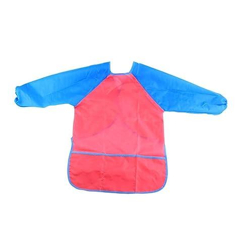 Niños que pintan batas, 2 paquetes de niños impermeables, mangas largas, delantales artísticos con 3 bolsillos para edades de 2 a 6 años: Amazon.es: ...