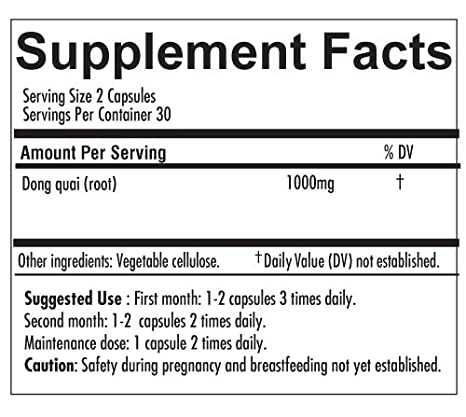 Native Remedies Dong Quai - All Natural Herbal Supplement Supports Female  Hormonal Balance and