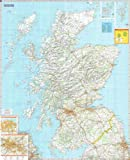 """Michelin Road Wall Map of Scotland [48"""" x 39""""] (a - Encapsulated in Gloss Plastic)"""