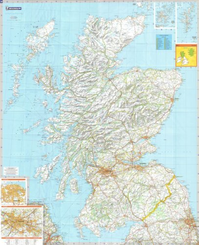 Michelin Road Wall Map of Scotland [48\