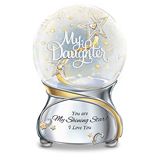 My Daughter You Are My Shining Star Illuminated Musical Glitter Globe Lights Up by The Bradford Exchange by Bradford Exchange (Image #3)