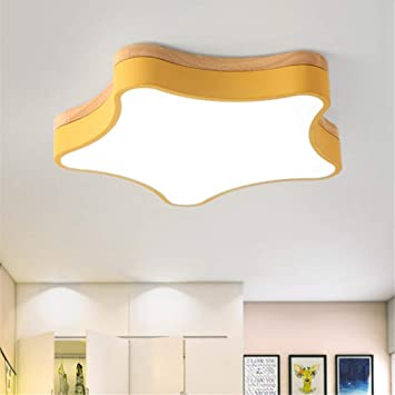 Amazon.com: ZM3 Ceiling Light Nordic Yellow Children\'s ...