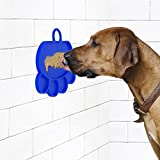 H&ZT Dog Bathing Distraction Device Silicone Dog Lick Pad to Keep Dogs Washing Funny and Simple Peanut Butter Dog Pad (Blue)