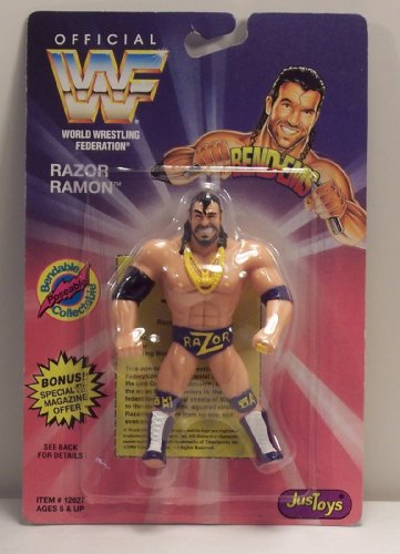 WWF / WWE Wrestling Superstars Bend-Ems Figure Series 1 Razor Ramon (Wrestling Superstars Wwe)