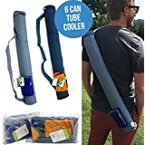 6 Can Tube Cooler by Blue Avocado easy carry