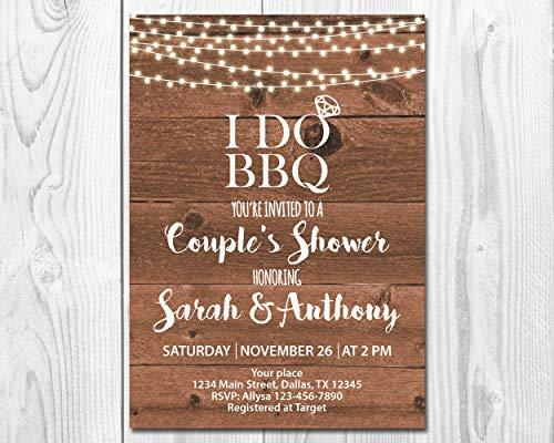 Rustic String Lights I Do BBQ Wedding/Couples Shower