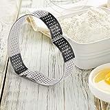 FANGSUN 3 Pack Stainless Steel Heart Tart Ring & 8