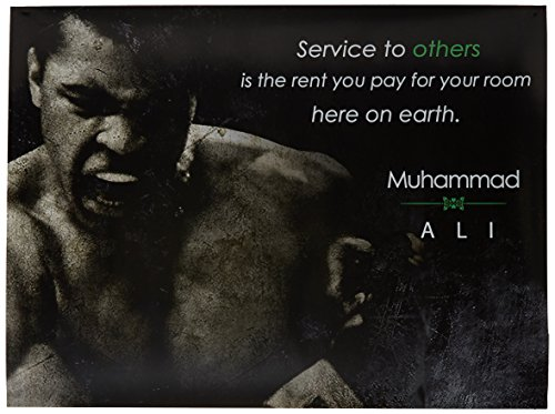 777 Tri-Seven Entertainment Muhammad Ali Poster Service to Others Quote Art Print, 18