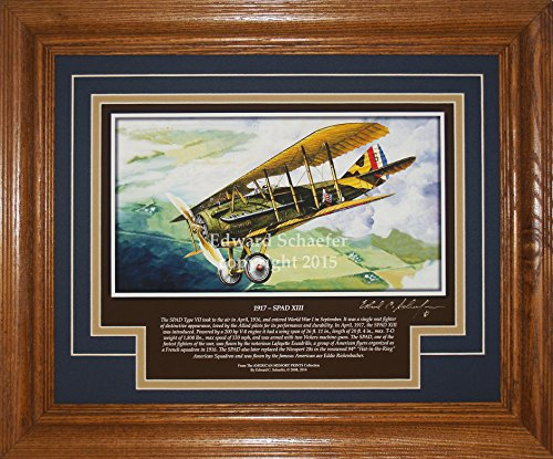 XIII with History WWI Aviation Pictures Wall Decor Art Gift for Dad