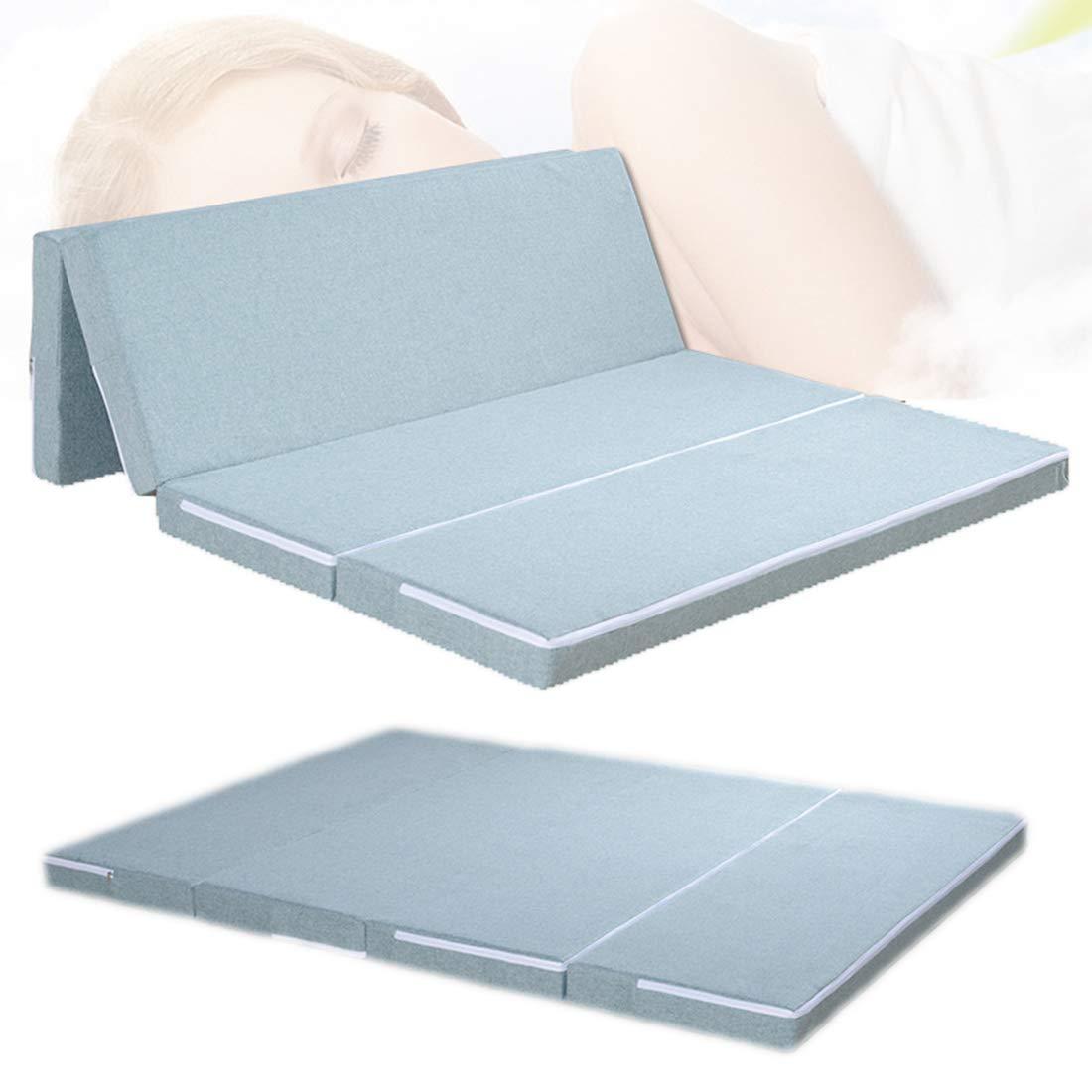 Balapig Klappmatratze mit Mikrofaserbezug, Gästematratze Faltbare Matratze Tatami Bodenmatratze für Erwachsene in Komfortgröße,135cmX200cm