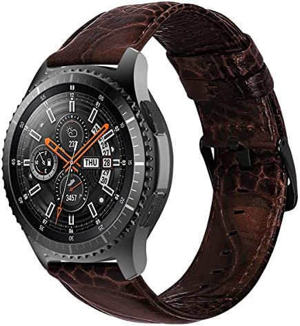 iBazal 22mm Armband Uhrenarmband Armbänder Gürtel Leder Metall Nylon Silikon kompatibel mit Gear S3/Galaxy Watch 46mm, Huawei Watch GT/Honor Magic/2 Classic, Ticwatch Pro Herren Uhren