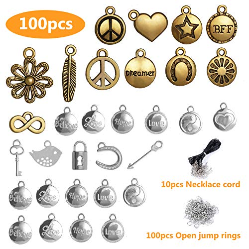 Mixed Silver & Gold Round Charms - Wholesale Bulk Lots Jewelry Making Metal Charms for Men