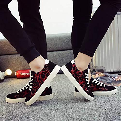 Poliuretano Toe Flat Spring ZHZNVX PU Round Comfort Azul Sneakers de White Blanco Rojo Mujer Zapatos Heel wSqIUP