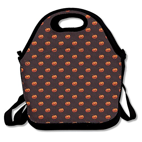Personalized Lightweight Lunch Bag Boxes Halloween Pumpkin Portable Home Travel Storage Use Lunchbox Tote for Men And Women -