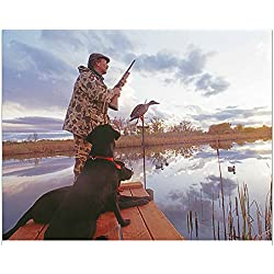 "Simply Calendar -""Fishing and Hunting"" 2019 Wall Calendar - 10.5"" x 18"" (Open)"