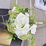 Real-Touch-Silk-Roses-Bouquet-White-Blooming-Artificial-Flowers-Home-and-Garden-Decor-Bridal-Spring-Wreath-for-Wedding-Party-Decorations-Indoor-and-Outdoor-Fake-Plants-and-Valentines-Day-Floral-Gift