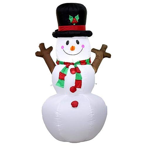 Zyx Navidad Muñeco De Nieve Auto-Inflado Hinchable Incorporado ...