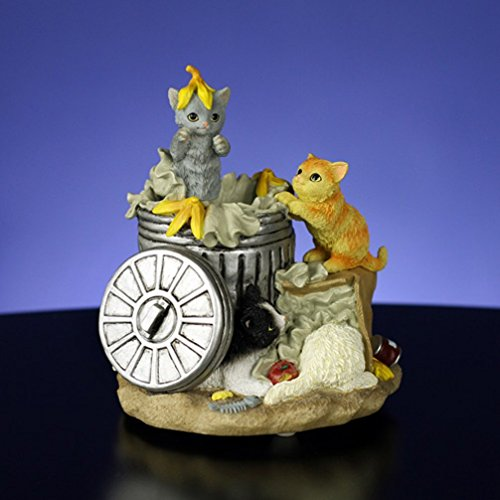 Animated Garbage Can Cats Musical Figurine by The San Francisco Music Box Company