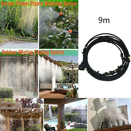 Jonerytime Outdoor Misting Cooling System Garden Irrigation Water Mister Nozzles Set (9M) from Jonerytime_ Home & Garden