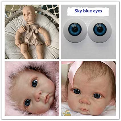 "22/"" Reborn Baby Dolls Unpainted Kit Limbs+Head+Eyes+Body DIY Reborn Dolls Kits"
