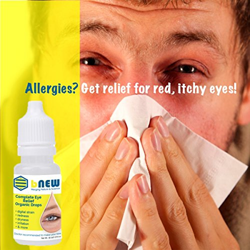 MSM bNew Eye Drops, Complete Eye Relief Multi Sympton Eye Care, 350 Drops Over 80 Uses.
