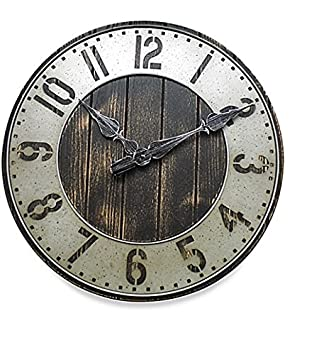 Amazon Industrial Rustic Wall Clock Oversized 20 Inch