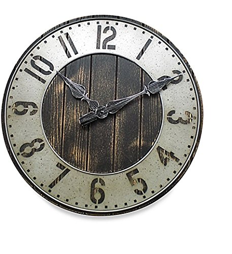 Industrial Rustic Wall Clock -  Punched Metal