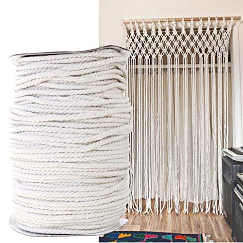 FidgetKute 4mm Beige Macrame Rope Cotton Twisted Cord Artisan Hand Craft DIY 100/300M Sale 300M by FidgetKute (Image #2)