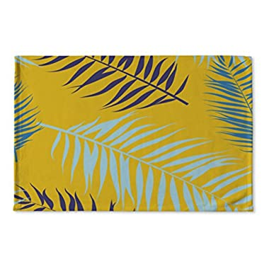 Gear New Floor Mat, Color Palm Leaves Pattern Flat Style, 36x24