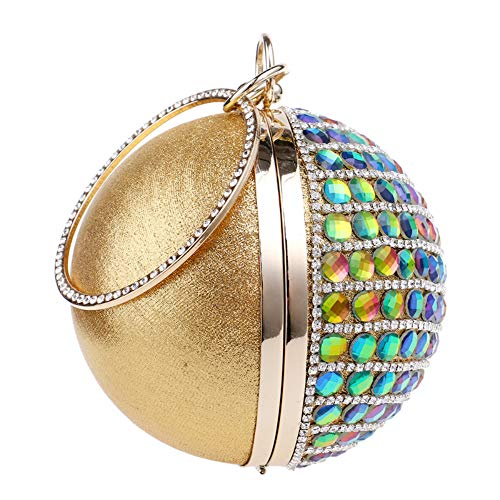 Party Womens Evening Handbags Dress For Bags Clutches Rhinestones Wedding Gold Chain Purse wSgqx