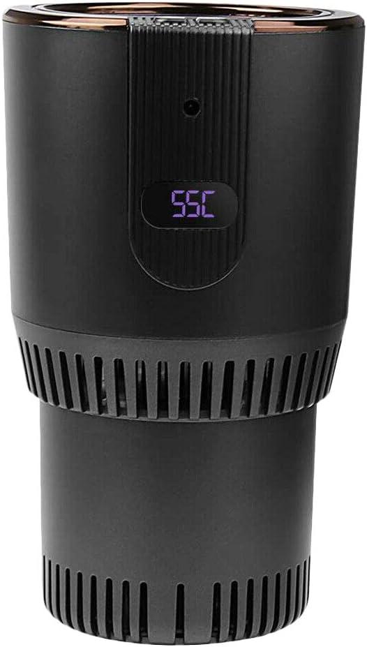 Beauneo 2 nel 1 Smart Car Warmer Cup e Cooler 12V3A Scaldino Elettrico per caff/è Tazza di Raffreddamento e Riscaldamento per Bevande con Display della Temperatura per Il Viaggio nel Auto